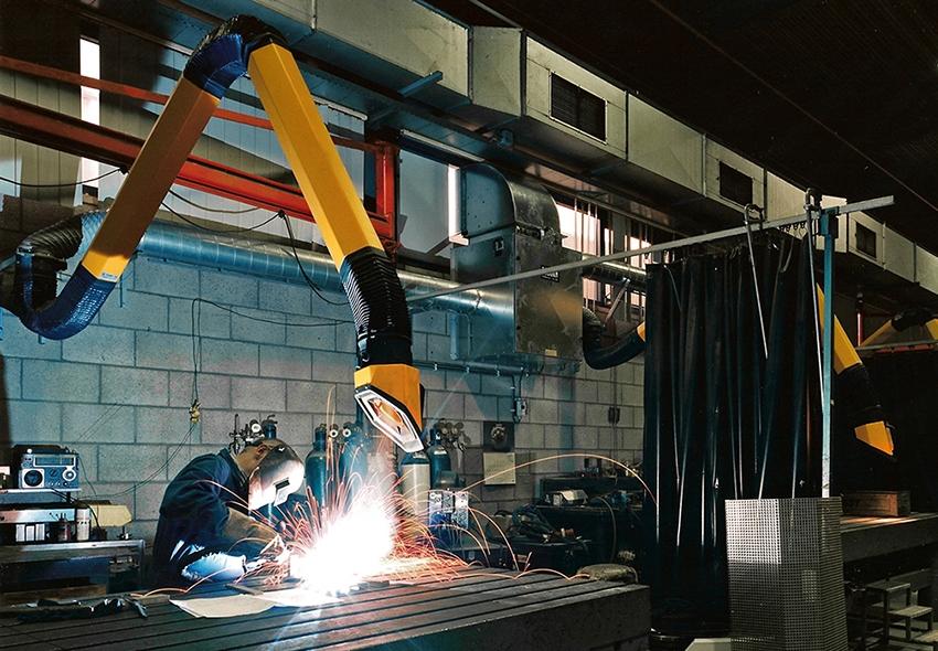 spatial ventilation with recirculation of welding fumes - Welding Fume Extractor
